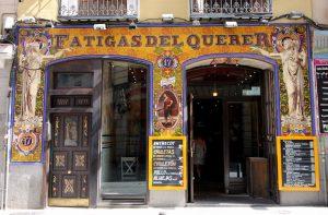'Fatigas del Querer' bar-restaurant at 17 Calle de la Cruz (street) in Sol neighborhood). Image: Creative Commons