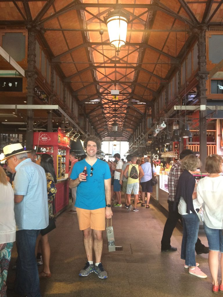 Doer pausing on his quest to sample all of the seafood in Mercado San Miguel *