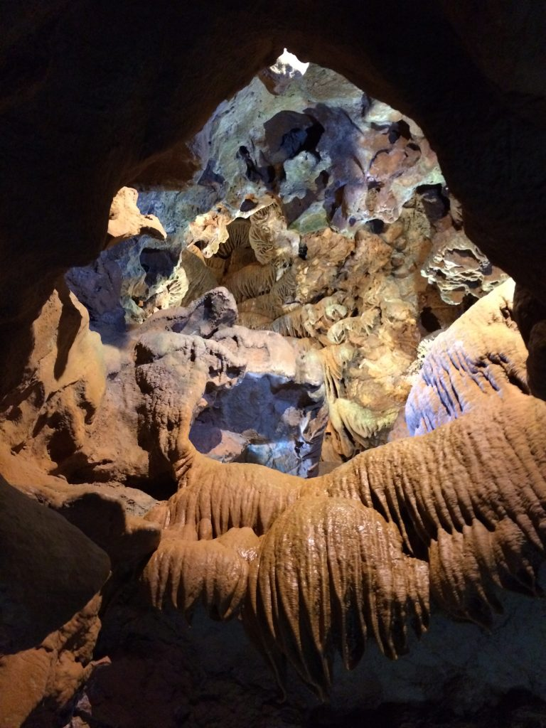 One of many scenic formations inside the cave