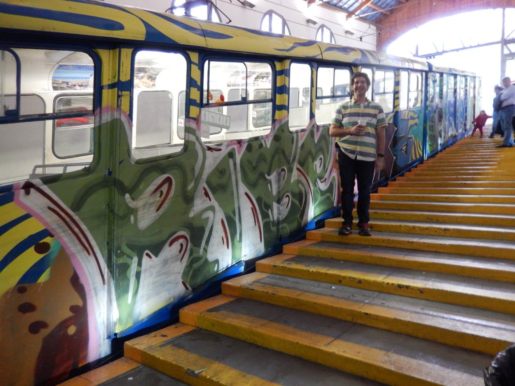 Writing this blog gives me a chance to go back through our pictures and notice things like how well my shirt matched the Funicular here. Definitely did not grasp that at the time.